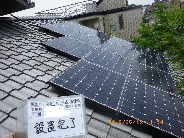 奈良県 奈良市 K様邸 太陽光発電新設リフォーム施工事例写真