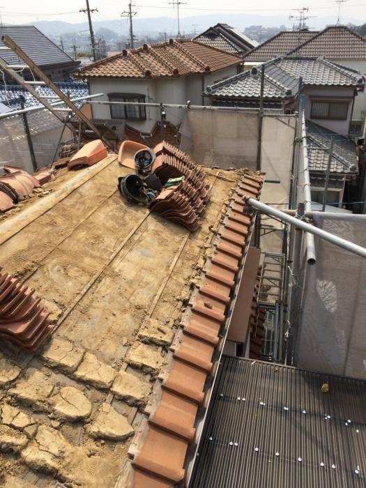 生駒市 T様邸 屋根瓦ふき替えリフォーム施工事例画像